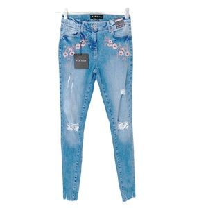 ASOS NWT Parisian Skinny Fit Embroidered Jeans 2